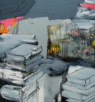 Grey Books (dypthic) / oil on canvas / 160 x 300 cms. / 2007 / work shown in: No Somos un Colectivo, Convocatoria N200 (2009), Galería Cellar, Santiago, Chile. TRES TRISTES TIGRES (2007), Centro Juventud Providencia, Santiago, Chile. / 1 of a series: http://www.flickr.com/photos/gracieweinrib/2819154951/in/set-72157614031994235