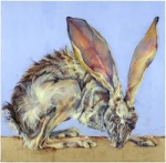 Jackrabbit #4 2008 oil and wax on canvas 30 x 30 inches
