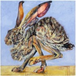 Jackrabbit #5 2009 oil and wax on canvas 30 x 30 inches