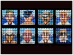{Boatsmen series}  Eggcubism, acrylic on eggboxes, 2004.