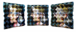 {La cubiste}  Eggcubism, acrylic on eggbox, 2006. (View large size) Coll. Peter Klaus Foundation, Germany.