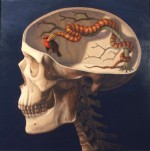 {Reptilian Hunger, Oil on Panel, 2010, 24 x 24}