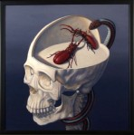{Beetle Brow Skull, Oil on Panel, 2008, 24 x 24}