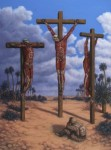 {Flayed Crucifixion, Oil on Panel, 2007, 24 x 18}