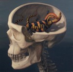 {The Lizard Part of My Brain #2, oil on panel, 20 x 20, 2011}