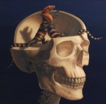 {Lizardbrain 2, oil on panel, 2011, 19.75x19.75}