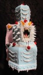 "{Scream Cake, detail Acrylic and Mixed Media on Polyurethane Foam, 20"" x 11"" }"