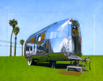 "Road Chief (sold) 8"" x 10"" acrylic painting on top of printed photograph by Vintage Roadside."