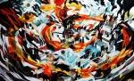 Collider, oil on canvas (Jon Fox)