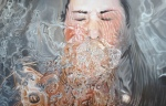The drowning artist 4 Oil on plywood, Available for sale, {Linnea Strid}