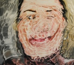 Crooked smile Oil on wood panel,{Linnea Strid}