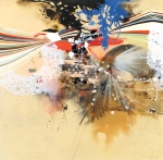 {Semidefinite Motion #1, 2011 oil, graphite, and mixed media on paper on panel 18 x 18 in} Reed Danziger