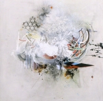 {The Interference Equation, 2011 oil, graphite, and mixed media on paper on panel  36 x 36 in} Reed Danziger