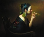 Rose Freymuth-Frazier {Cigar Smoker}