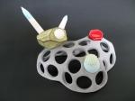Sarah Hicks, Perforations:Accretion #1, 2010, Ceramic Stoneware
