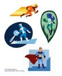 Brian Gubicza, Superhero Series, Cut Paper