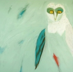 Ros Swadling, Barn Owl, Acrylic on canvas