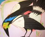 Ros Swadling, Currawong, Acrylic on canvas