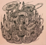Peerawayt Krasarsom, Elementary,pigment ink drawing on paper, 2012