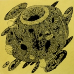 Peerawayt Krasarsom, Object Moment, pigment ink drawing on paper, 2012