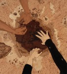 ALISON ELIZABETH TAYLOR Folie a Deux, 2008 Wood veneer, pyrography, shellac