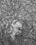 """""""Regurgitation, Gossip and Reputation,"""" Ink on Paper, Melanie Pruitt"""