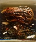 Philip Hunter, Shudderscape, oil on linen, 36 x 31 cm, 2013