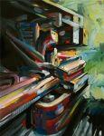 """Darius Martin, """"Heavy Rail Blues,"""" 2010, Oil/Canvas"""