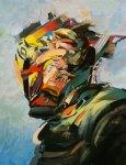 "Darius Martin, ""Scrambled Portrait"" 2012, Oil/Canvas"