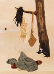ALISON ELIZABETH TAYLOR Into the Wild, 2012 Wood veneer, oil paint, shellac